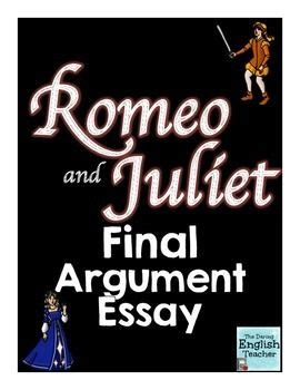 romeo and juliet thesis statement? Yahoo Answers
